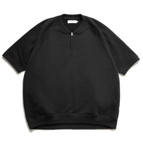 LOOPWHEELER for Graphpaper  S/S Half Zip Raglan Sweat