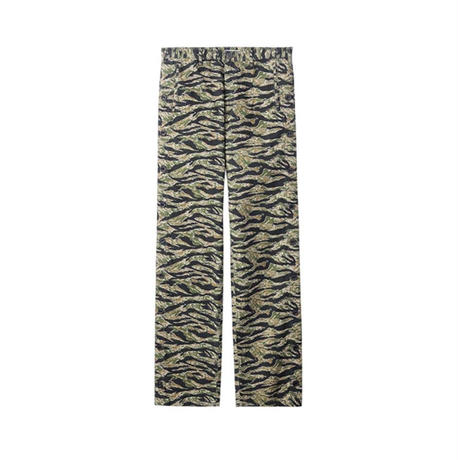 "JOHN LAWRENCE SULLIVAN ""CAMO PRINTED COTTON SIDE BUTTONED PANTS"""