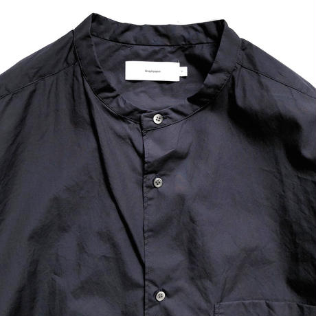 Graphpaper  Broad Oversized Band Collar Shirt