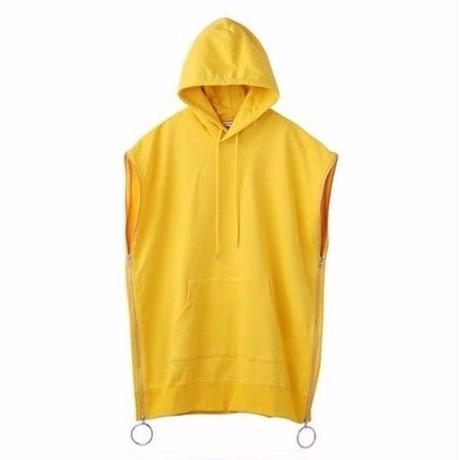 "JOHN LAWRENCE SULLIVAN ""ZIPPED SLEEVELESS SWEAT HOODIE"""
