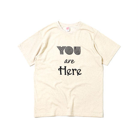 "S/S HEMP COTTON TEE ""YOU ARE HERE"""