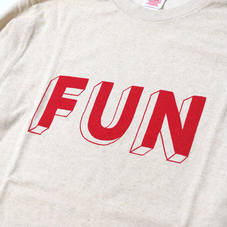 "L/S HEMP COTTON TEE ""FUN"""