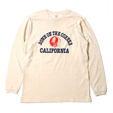 "L/S HEMP COTTON TEE ""CALIFORNIA LOGO W/SKOLOCT"""
