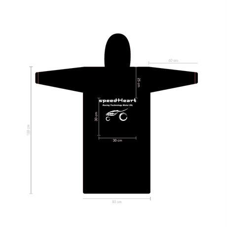 レインコート・ハードレインタイプ 反射テープ&反射ロゴ付き 発売記念で別仕様レインコートをもう1枚プレゼント!