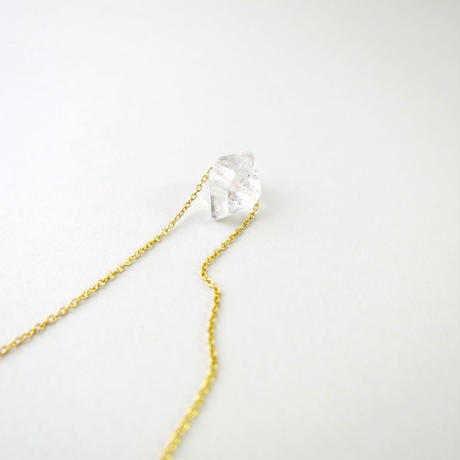 A Grain of  Herkimer diamond Necklace【14kgf】