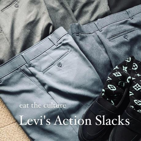 Levi's Action Slacks_ 6.light blue gray