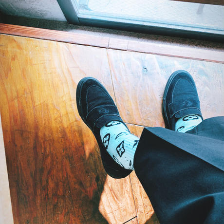 [3pair set] Monogram Chocolate Mint Socks
