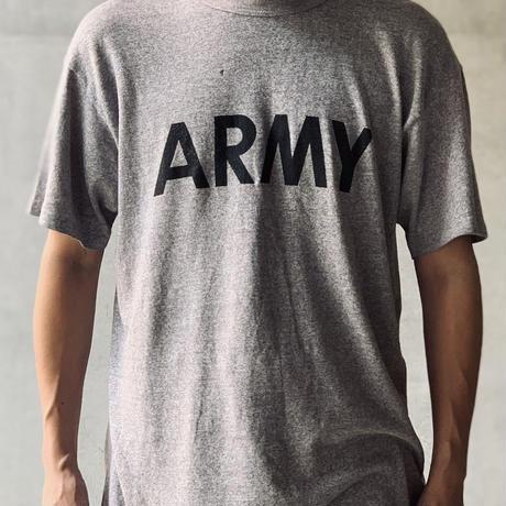 "[L]Vintage Champion ""ARMY"" Tee 80s"