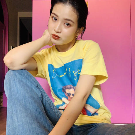 """Summer of 85 × anytee"" 映画公式 限定TEE バナナ色"