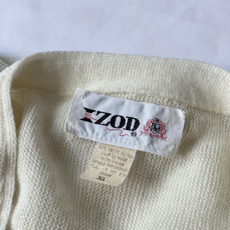 [XL]IZOD_ Acrylic cardigan_70s USA