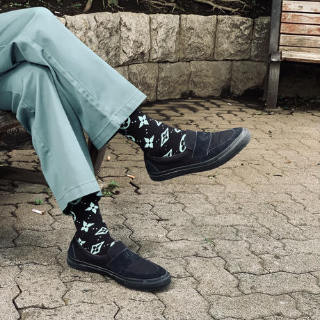 [one pair] Monogram Chocolate Mint Socks