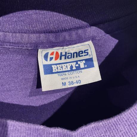 [M]Hanes Vintage Print Tee 90s_used good condition