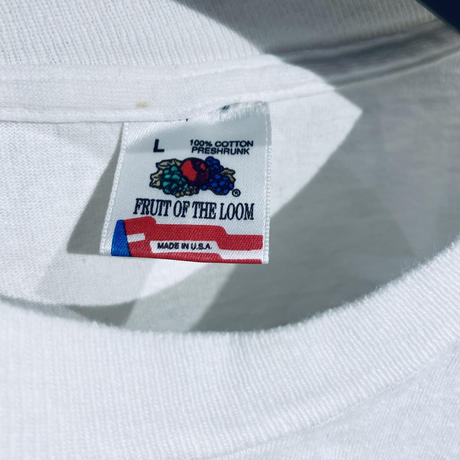 [L]Fruits of the room Print Tee 90s_used good condition
