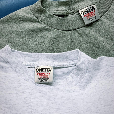 ONEITA 2PACKS GRAY made in usa(deadstock)