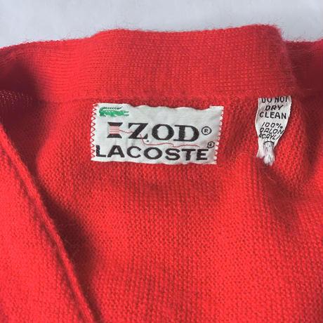 [XL]IZOD LACOSTE_ Acrylic cardigan_70s USA