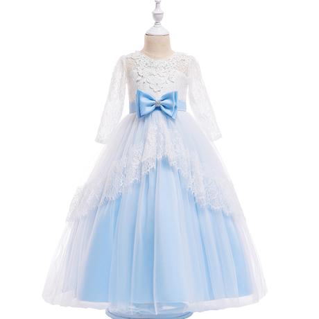 【3泊4日クリーニング不要】スカイブルー♡リボン♡ドレス♡レンタル♡