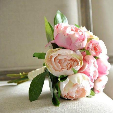 フレンチローズ ピンク ブーケ 結婚式 二次会 ウエディング ブライダル 造花の ブーケ クラッチ インテリア ウェディング アイテム グッズ