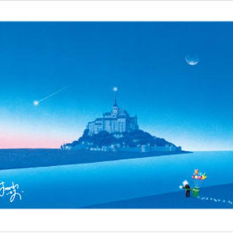 「夜明けのモンサンミッシェル」ポストカード
