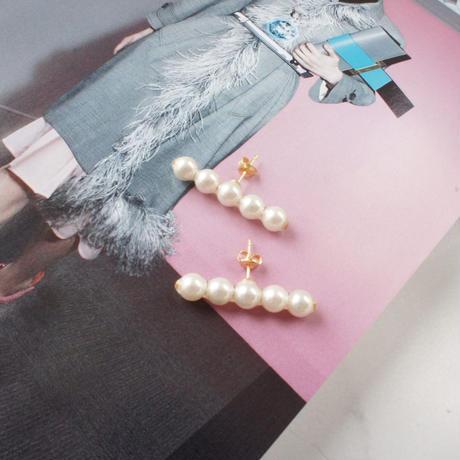 pearl bar pierce,earring(6mm)