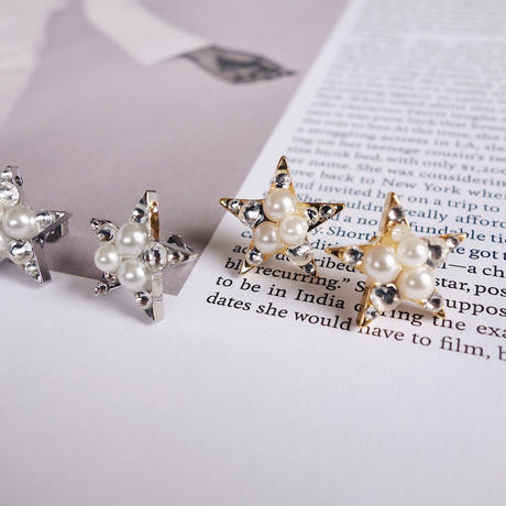bijou star pierce,earring