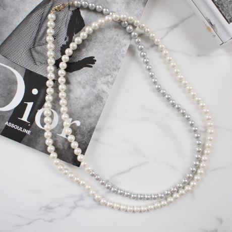 pearl long necklace(bi-color)