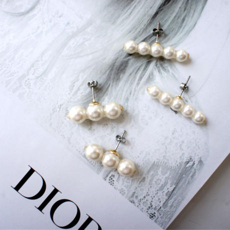 pearl bar pierce,earring