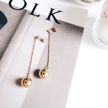 metal ball chain pierce,earring