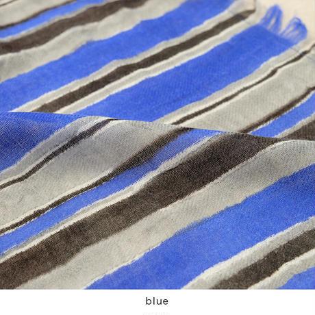 Multi stripeウールガーゼストール
