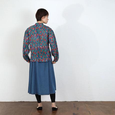 Tulip カディ襟リボンシャツ