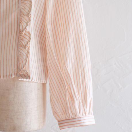 stripe フリルプルオーバー