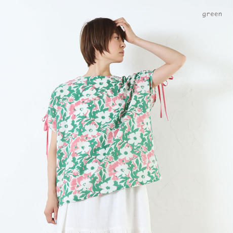 GIFT肩シャーリングトップ