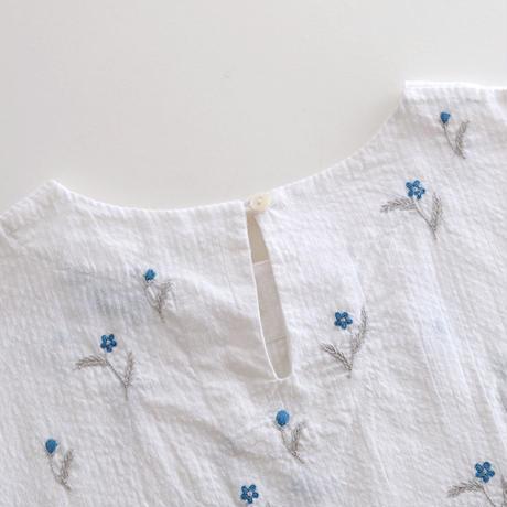 アリ刺繍コットンプルオーバー