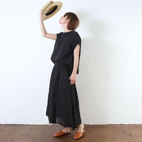 リネンウエストギャザースカート