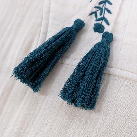 アリ刺繍プルオーバー
