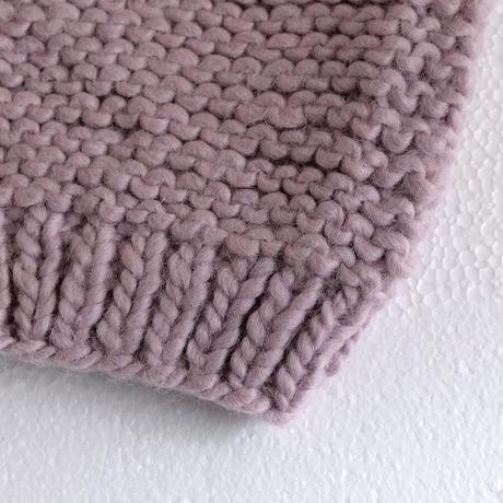 ハンドニット プレーン編みカーディガン