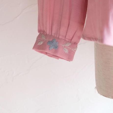 手刺繍ダブルガーゼシャツ(body)