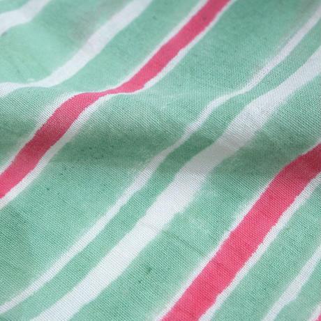 mix stripe カディロングシャツワンピース