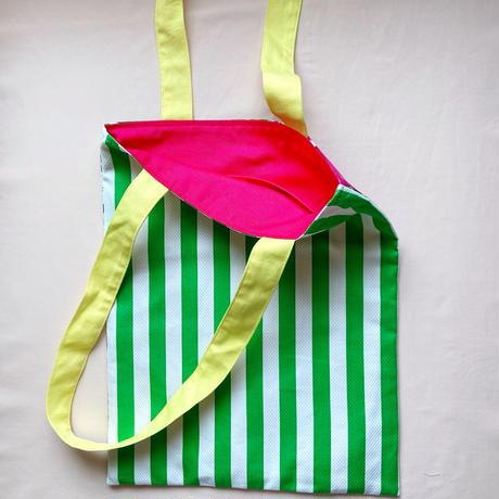 バッグ DOUBLE FACE(green stripe)