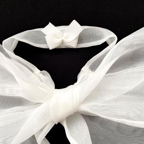 つけ襟 LITTLE RIBBON(white)