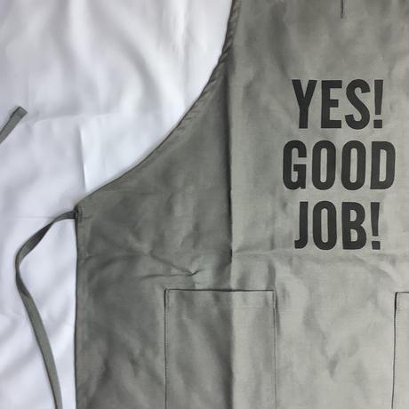 """[限定販売]DRESSSEN  WPAGR2     DAY USE W POCKET  APRON   YES! GOOD   JOB!""""(GREY COLOR)"""