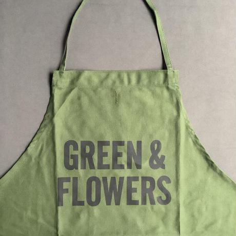 """DRESSSEN DR(GRN)1   """"GREEN &FLOWERS"""" APRON"""