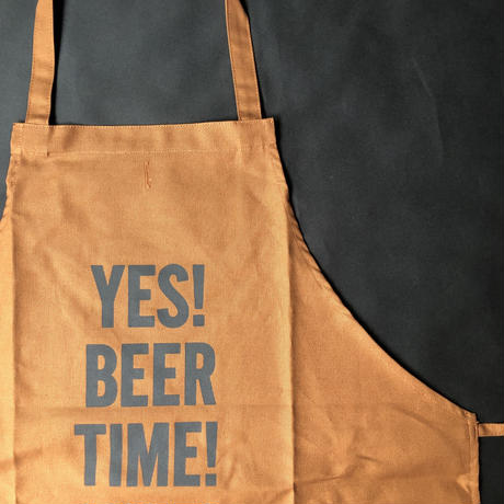 "⭕️[新型エプロン] DRESSSEN    WPAB8 DAY USE W POCKET  APRON   ""YES! BEER TIME!"