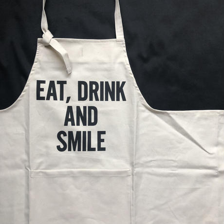 "DRESSSEN THE PROFESSIONAL APRON    ""EAT ,DRINK AND SMILE""🔴7月下旬に再入荷します。今しばらくお待ちくださいませ"