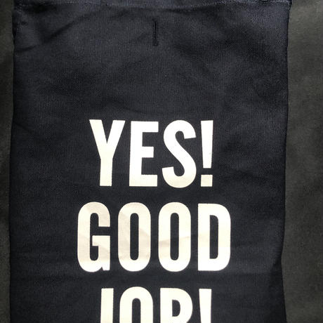 "[限定販売]DRESSSEN  WPADN2    DAY USE W POCKET  APRON   YES! GOOD   JOB!""(生成りロゴ)"
