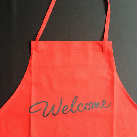 "DRESSSEN DR(RED) 8 ""welcome"" APRON  RED COLOR"