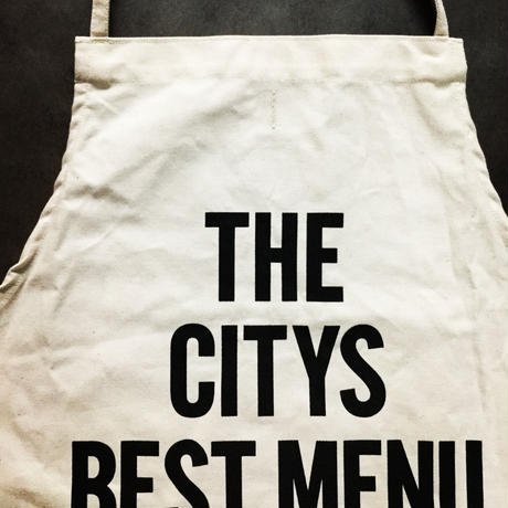 DRESSSEN ADULT APRON #52 THE CITYS BEST MENU