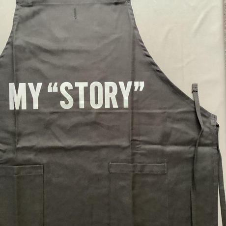 "DRESSSEN WPABLK5  DAY USE W POCKET  APRON   ""MY""STORY""(BLACKCOLOR  )"