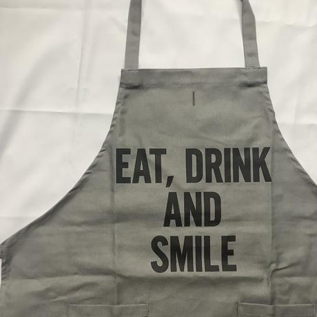 """[限定発売]DRESSSEN WPAGR1 DAY USE W POCKET  APRON   """"EAT,DRINK AND SMILE (GREY COLOR"""