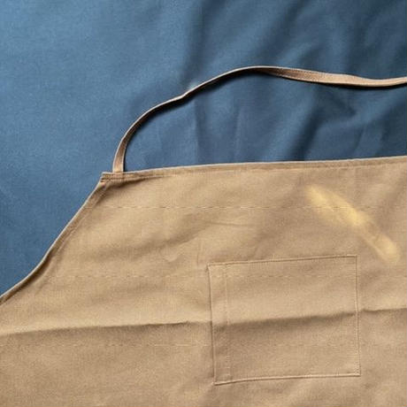 "[限定販売] DRESSSEN  WPAB0  DAY USE W POCKET  APRON   ""NON  TITLE BROWN COLOR ""  ※こちらの商品は無地です"
