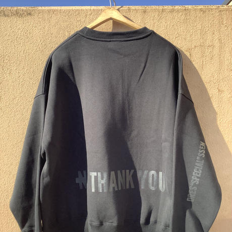 """DSS6 SWEAT  SHIRTS  """"YES!GOOD JOB!/NO  THANK YOU"""" (BLACK COLOR)   ブラックロゴ"""